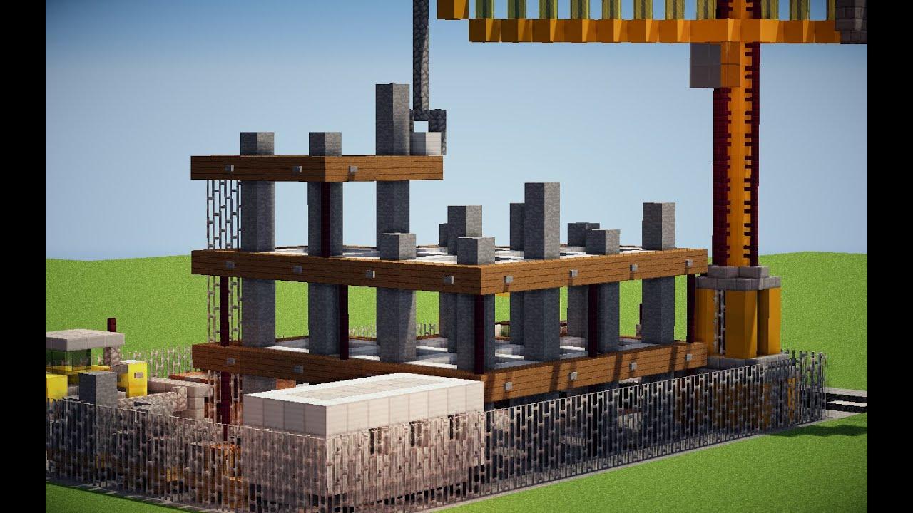 (TUTO): bâtiment en construction (chantier) MINECRAFT ... - En Construction