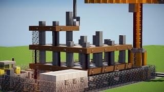 (TUTO): bâtiment en construction (chantier) MINECRAFT