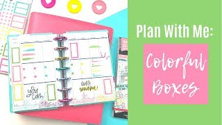 Plan With Me | Colorful Boxes