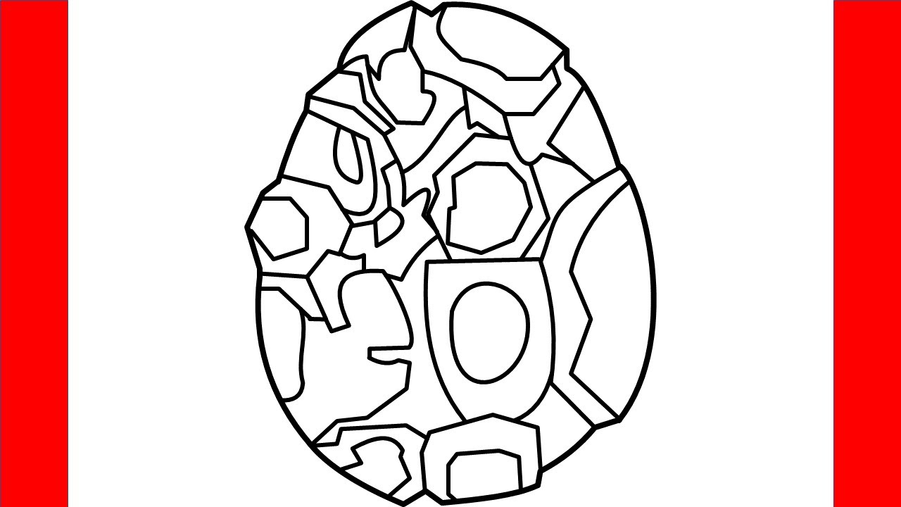 How To Draw Terra Dragon Egg From Dragon City - Step By Step Drawing