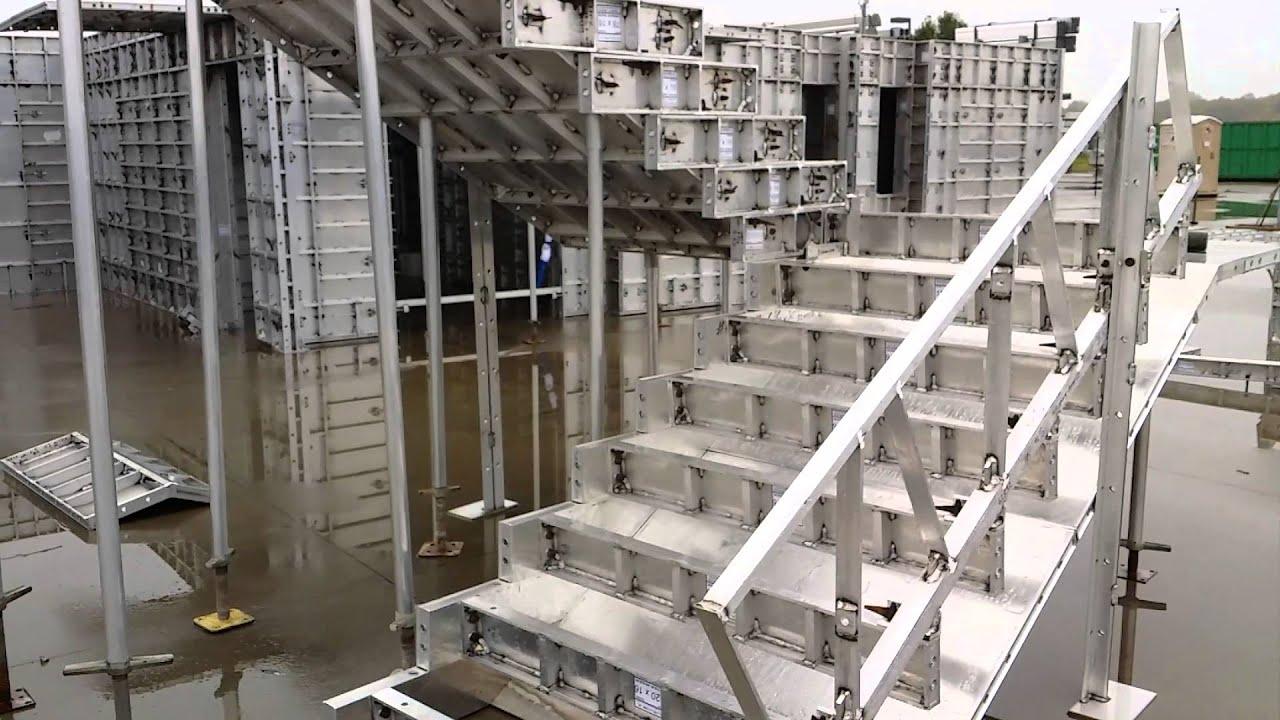 Wall ties encofrado formaletas de aluminio para for Encofrado de escaleras de concreto