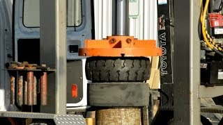 Toyota Forklift Truck Tire Change