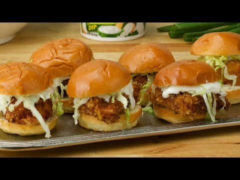 French Onion Chips & Dip Chicken Sliders // Presented by Tasty & Dean's Dip
