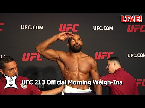 Official UFC 213: Nunes vs Shevchenko 2 Morning Weigh-Ins (LIVE!)