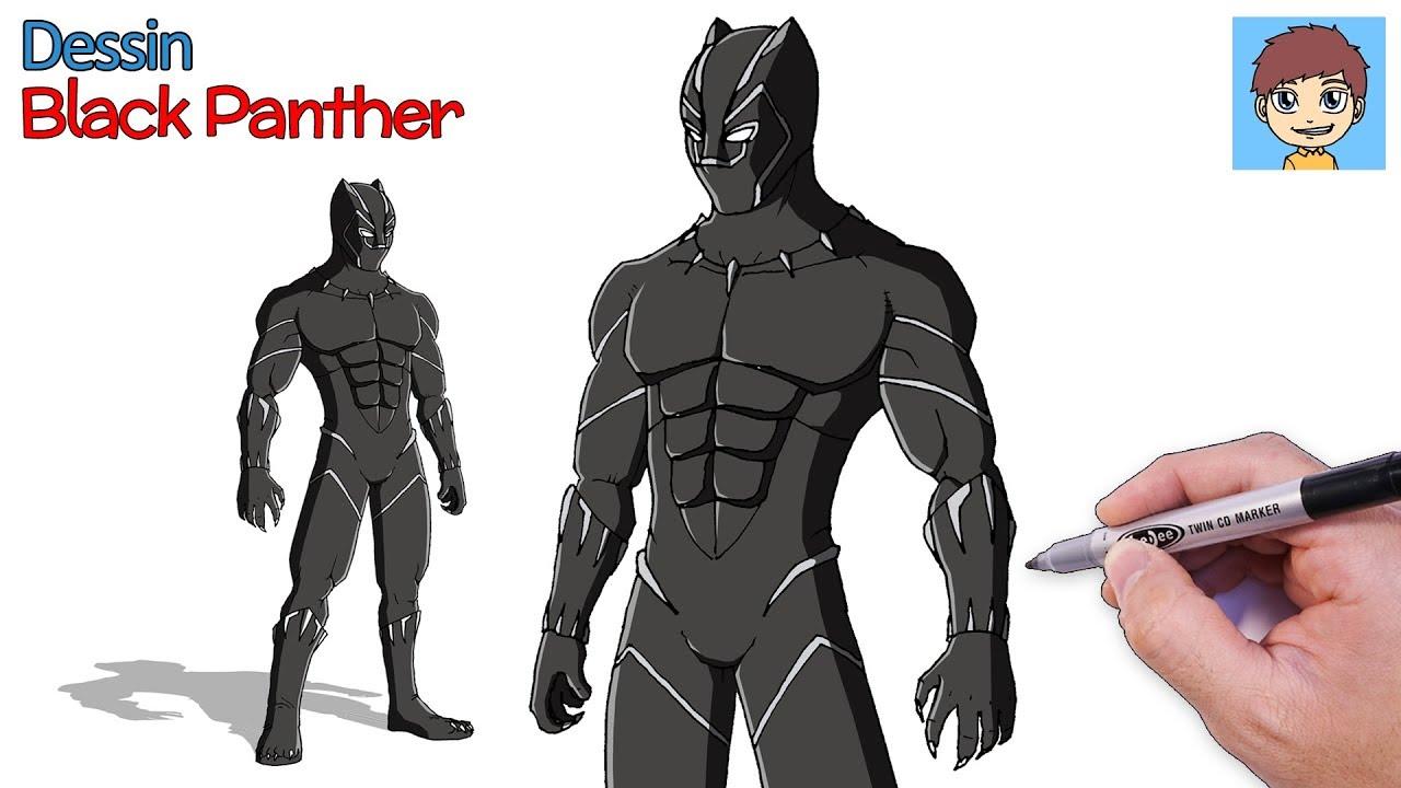 Comment Dessiner Black Panther Facilement Dessin Facile A Faire