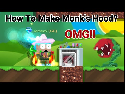 Making Monk's Hood! + (How To Make?) Roots Day 1 OMG!! - Growtopia