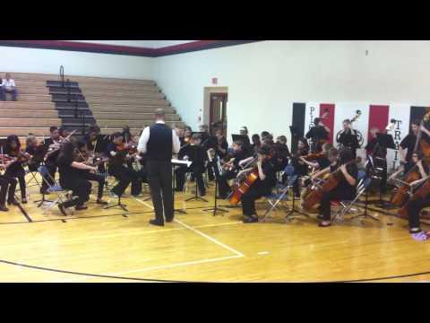 """Dragonhunter"" (Meyer) Pioneer Trail Middle School Sixth Grade Orchestra 08 May 2014"