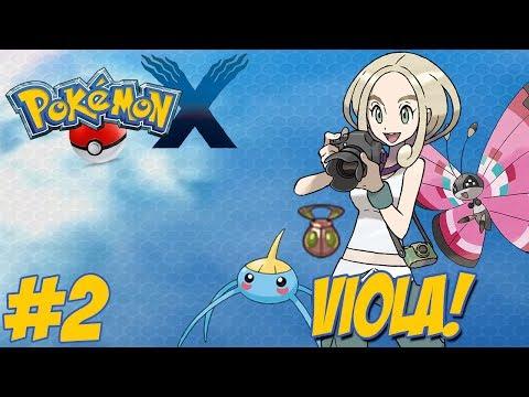 Pokémon X - Nova Jornada #2 / Enfrentando Viola / Novo Inicial / A Caminho de Lumiose City!!