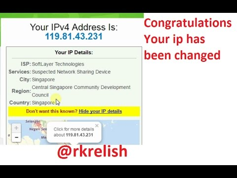 how to change or hide your local ip address yooutube