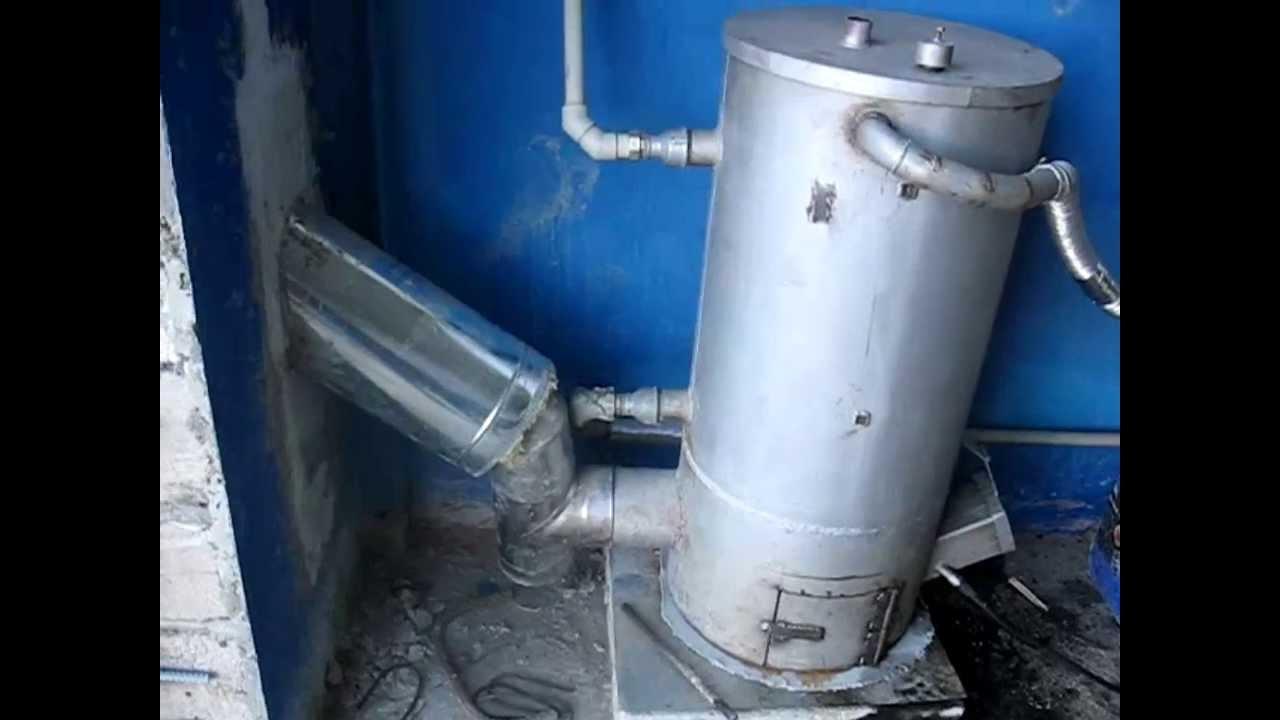 Печь на отработанном масле(отработке) 25 кВт. Отопление двух .