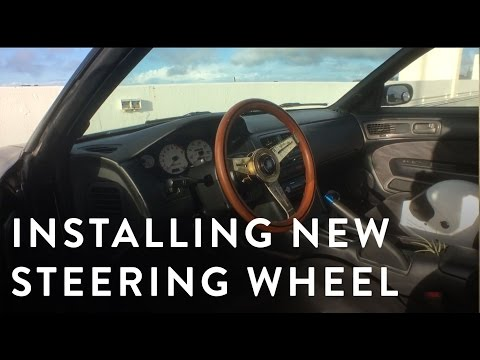 How to Install a NRG short hub/quick release hub on a Nissan 240sx s14
