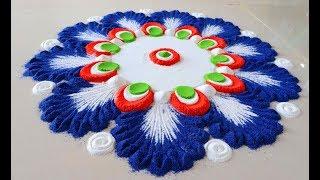 Top Easy Independence day rangoli बनाये ऐसे || आनेवाले हर त्योहारों के लिए आसान रंगोली बनाना सीखें -