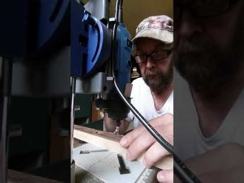 Drilling the fretboard for staple frets