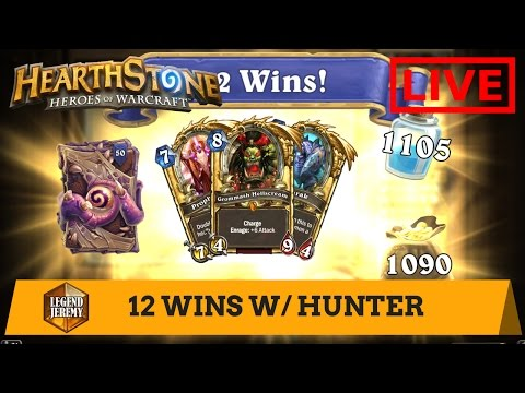 Hearthstone Heroic Brawl: Secret Hunter (12 WINS)