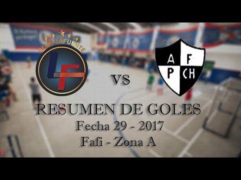 Resumen de Goles Fecha 29 - Lafuente vs Parque Chas - Fafi Zona A 2017 (Baby Fútbol)