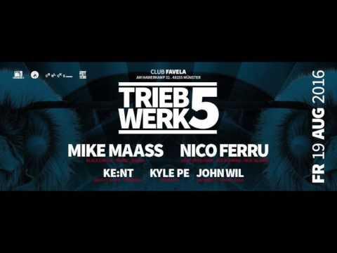 John Wil @ Triebwerk 5 feat. Mike Maas & Nico Ferru / Favela, Münster (19.08.2016)