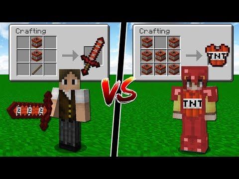 Minecraft: ESPADA DE TNT VS ARMADURA DE TNT! QUAL É MAIS FORTE?