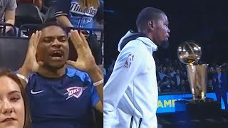 Russell Westbrook Ruined Kevin Durant & Warriors Championship Ring Ceremony (Parody)