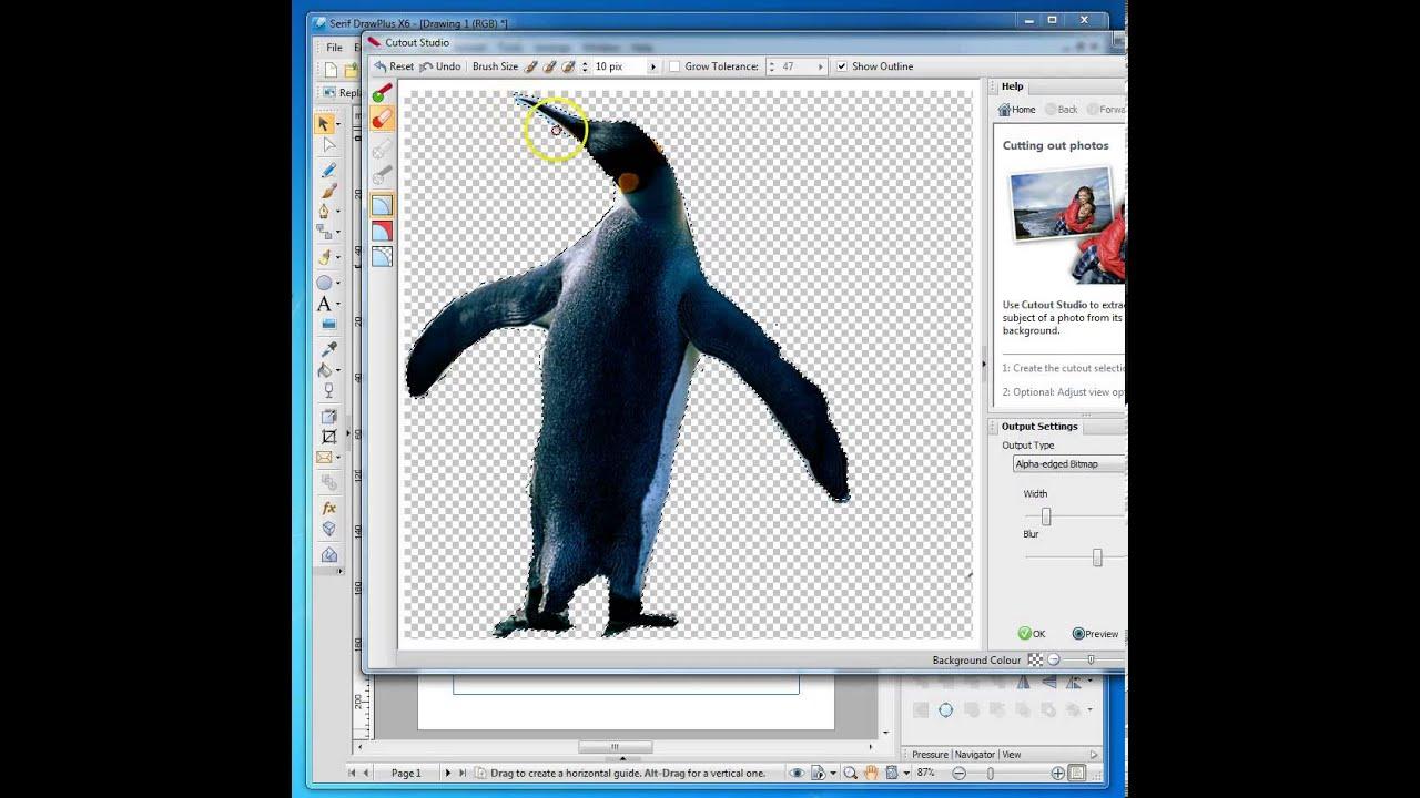 01 DrawPlus Penguin Cutout