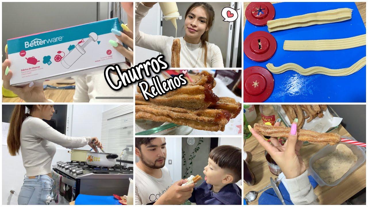 Download Probando la FÁBRICA DE CHURROS de BETTERWARE✨ + Churros Rellenos (Receta) | Ammy Alvarado