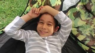 Evden Kovulduk!! Bahçeye Çadır Kurduk Çadırda Uyuduk Yeni Dev Squishyler Açtık!! Bidünya Oyuncak