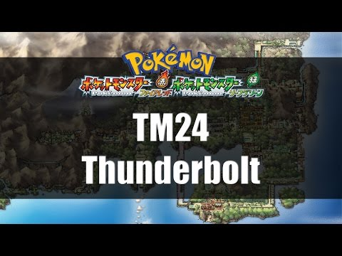 Pokemon Fire Red & Leaf Green | Where to find TM24 Thunderbolt