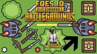 Foes.io = PUBG + MooMoo.io Pubg.io Battle Royale Game like Hacks, Cheats
