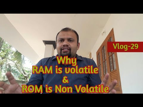 Why RAM Is Volatile And ROM Is Non Volatile
