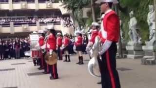 2014.05.02二信高中姐妹校香港陳樹渠紀念中學管樂表演