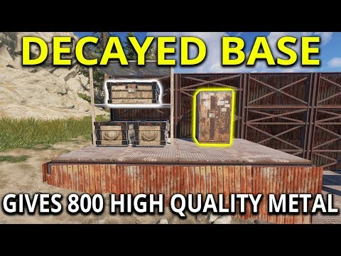 Decayed Base and Silent Raid Gives Insane Jackpot Loot - Rust Solo Survival Gameplay