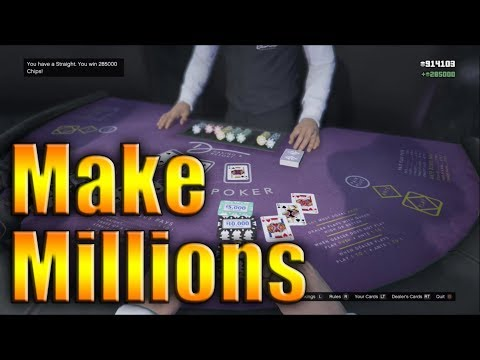 How I Made Over 1,000,000 Chips Playing Three Card Poker (GTA V Online)