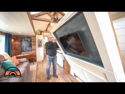 Gorgeous 5th Wheel Tiny House With Murphy Bed & Two Slides Built In