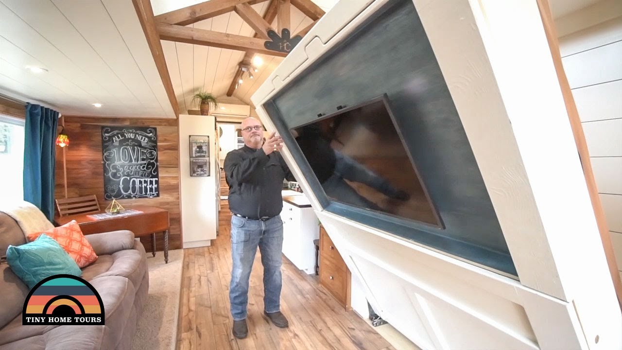 Gorgeous 5th Wheel Tiny House With Murphy Bed Two Slides Built In Youtube,Master Bedroom Paint Color For Small Bedroom Walls