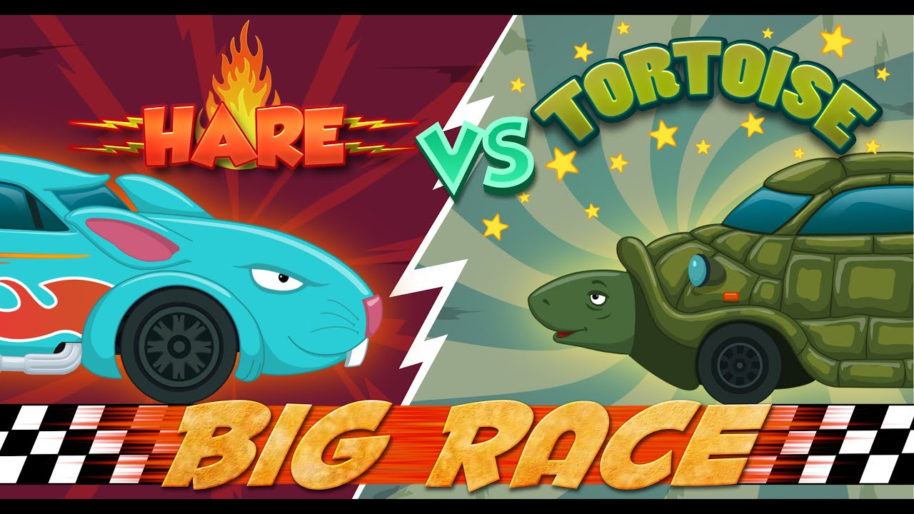 Hare Vs Tortoise An Aesop S Fable Cars Race For Kids Racing