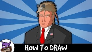✐ How To Draw - Donald Trump ✐