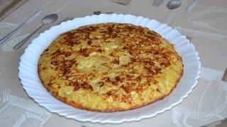 Испанская картофельная тортилья с луком и треской