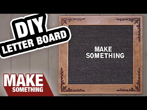 How to Make a Letter Board | Easy Woodworking Project