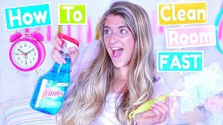 How To Clean Your Room FAST! Cleaning & Organization Hacks!