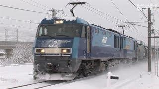 EH200形電気機関車牽引貨物列車in しなの鉄道&篠ノ井派出 2009年撮影 HDV 1678