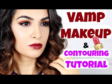 herbst vamp make up countouring tutorial gesicht. Black Bedroom Furniture Sets. Home Design Ideas