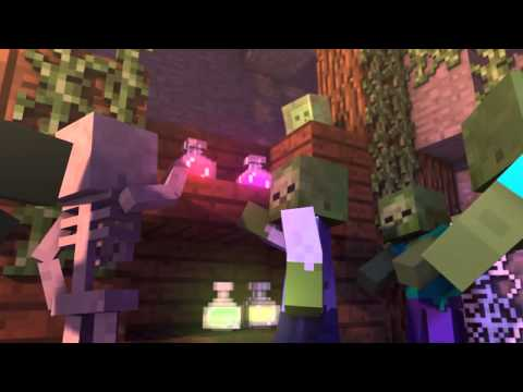 Хип-хоп битва между Стивом и ведьмой в minecraft . Мультик на английском