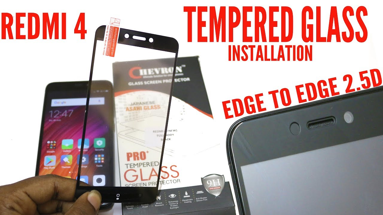 Best Tempered Glass For Redmi 4 Unboxing Installation Edge To Full Layar Xiaomi Pro