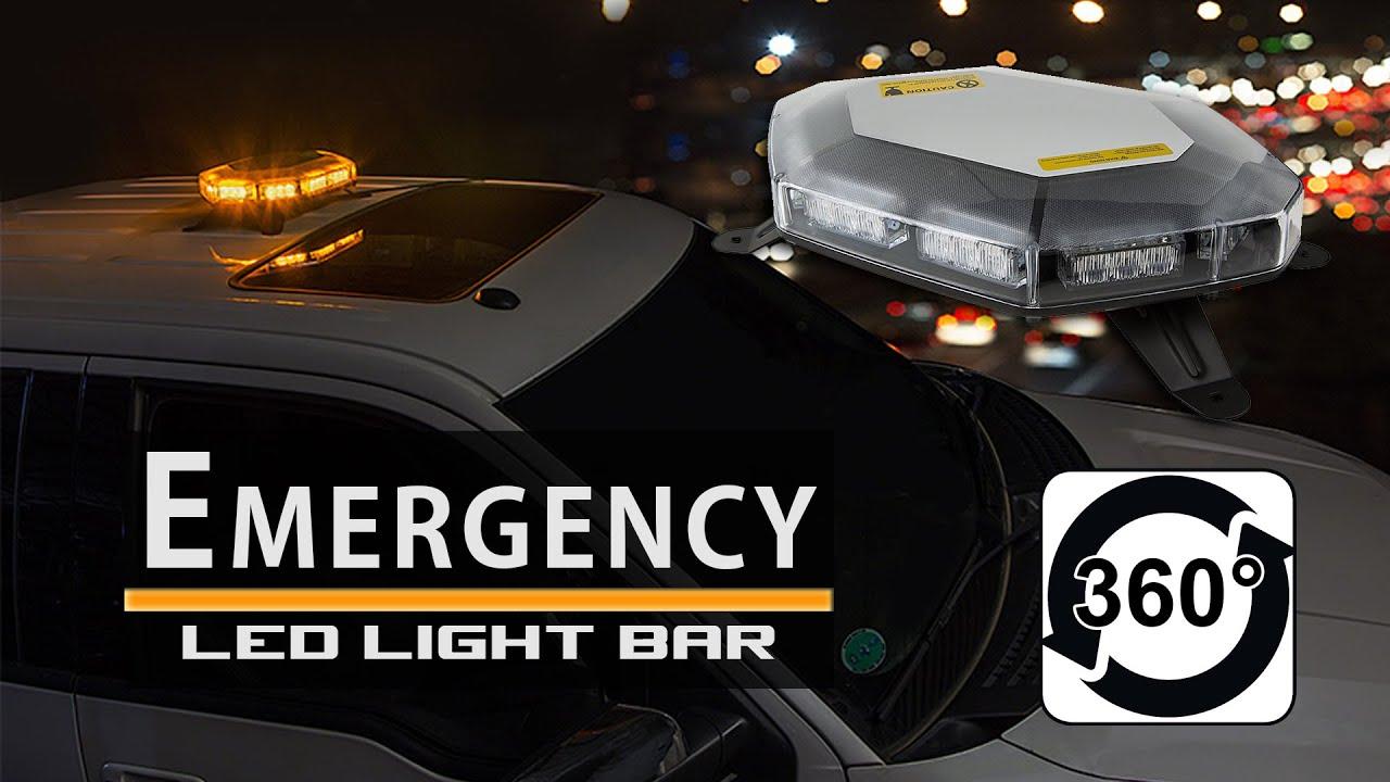 Led emergency light bar strobe amber mini 360 degree youtube led emergency light bar strobe amber mini 360 degree aloadofball Choice Image
