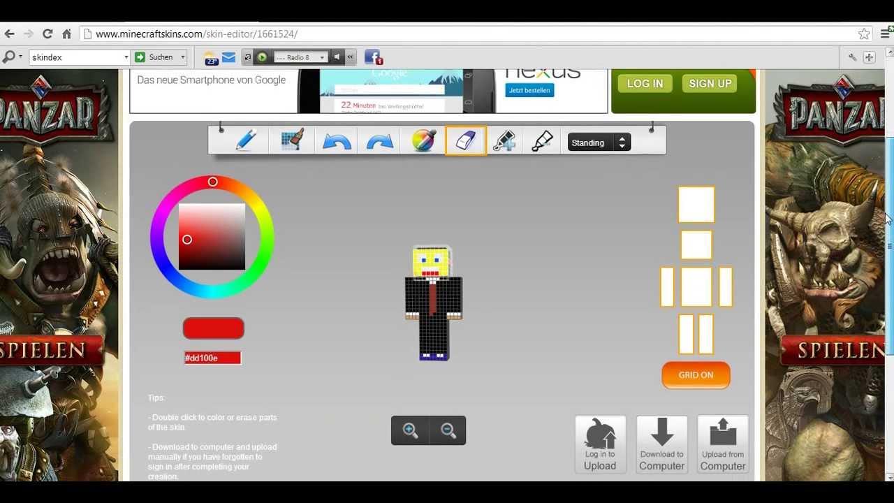 Minecraft Skin Erstellen GermanDeutsch YouTube - Skin minecraft erstellen deutsch