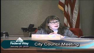 1/20/2015 - Federal Way City Council - Regular Meeting