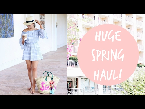 HUGE SPRING CLOTHING HAUL! ZARA, REVOLVE, MISSGUIDED, & MORE