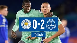LEICESTER CITY 0 2 EVERTON RICHARLISON HOLGATE FIRE BLUES TO VICTORY PREMIER LEAGUE HIGHLIGHTS