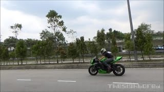 Kawasaki ZX-6R Graves exhaust failed ride-by