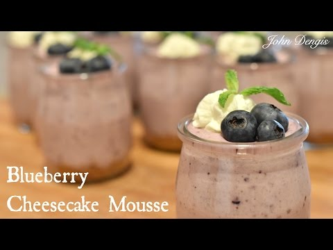 Blueberry Cheesecake Mousse Cup | John Dengis