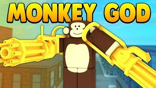 BOW DOWN TO THE MONKEY GOD (ROBLOX SUPER POWER TRAINING SIMULATOR)